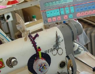 Ausschnitt eines Maschinen-Arbeitsplatzes