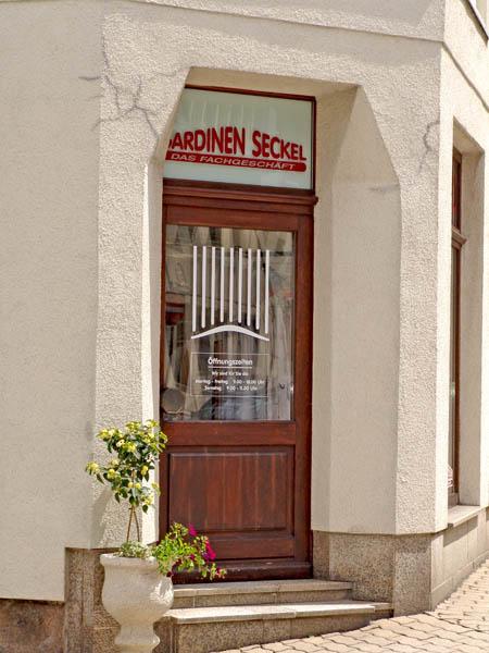 Geschäft Falkenstein - Der Eingang